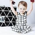 2016 New  Childrens Sets  Fashion  Boy Clothing Set Cotton White Plaid Vests Tops + Pants  Toddler Boy Clothes