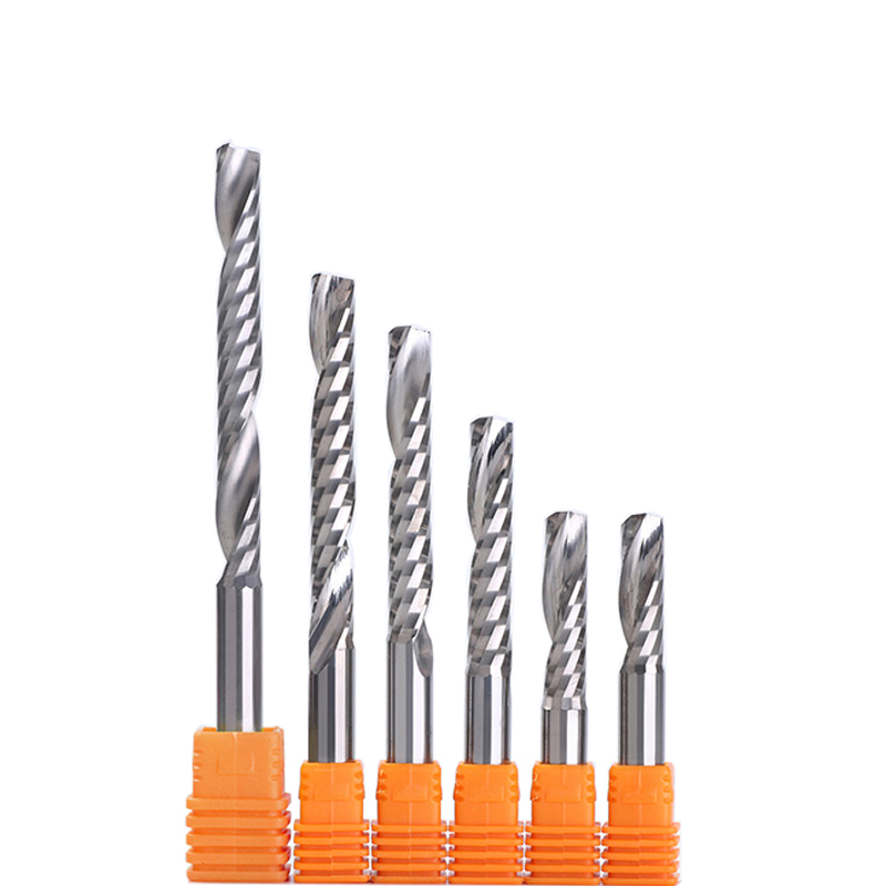 HOZLY SHK 3.175//4//5//6mm Single Flute Milling Cutters for Aluminum CNC Tools Solid Carbide Aluminum Composite Panels Pack of 5