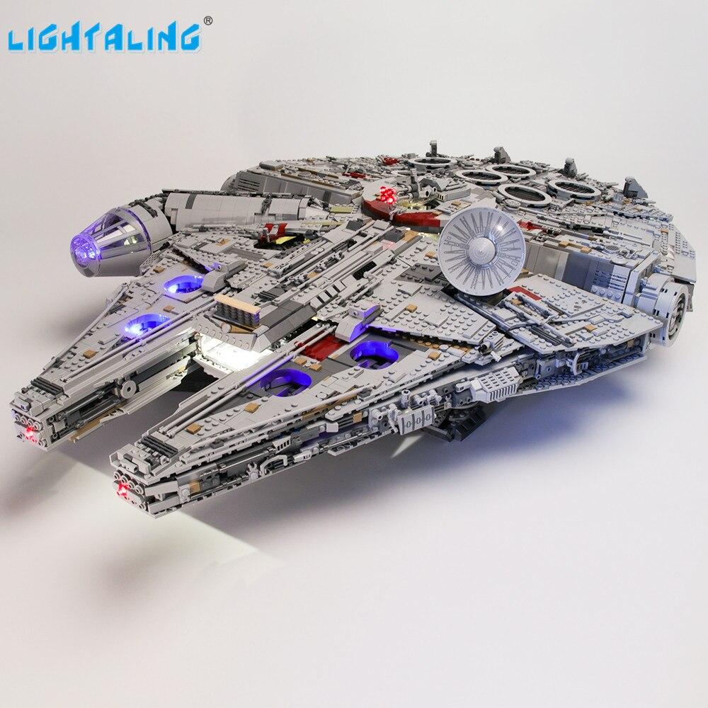 lightaling kit de luz led para 75192 estrela guerra final millennium brinquedo blocos iluminacao conjunto compativel