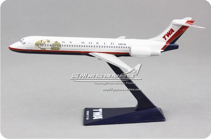 19cm Plastic AIR American  Airways Plane Model B717-200 TWA Airlines Airplane Model W Stand Aircraft Gift