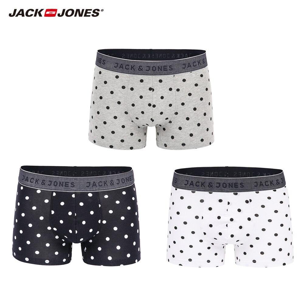 JackJones hombres 3-Pack Boxer Shorts ropa interior del boxeador de los hombres 2019 marca nueva moda de ropa 217392510