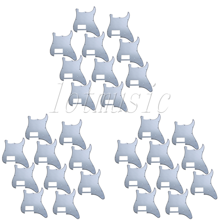 30Pcs High Quality Aluminum Guitar Pickguard For Electric Strat Guitar Replaecement musiclily 3ply pvc outline pickguard for fenderstrat st guitar custom