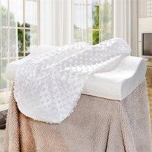 Original Bamboo Fiber Pillow Slow Rebound Health Care Memory Foam Support The Neck Fatigue Relief