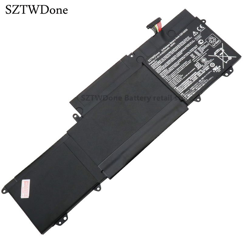 все цены на SZTWDONE C23-UX32 Original laptop Battery For Asus VivoBook U38N U38K U38DT for Zenbook UX32 UX32VD UX32LA 7.4V 48WH онлайн