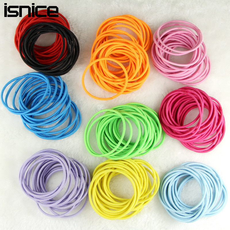 Apparel Accessories Nice Isnice Dia 5cm Hair Accessories Elastic Holders Rope Girl Women Rubber Bands Tie Gum For Hair Accesorios Para El Pelo Nourishing Blood And Adjusting Spirit
