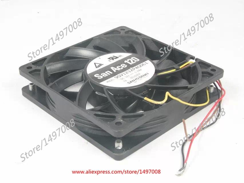 SANYO 9GV1212P4G061 DC 12V 1.68A 120x120x25mm Server Square fan sanyo 109p1212h4d01 server square cooling fan dc 12v 0 45a 120x120x25mm 3 wire