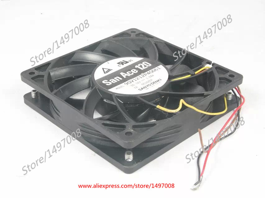 SANYO 9GV1212P4G061 DC 12V 1.68A 120x120x25mm Server Square Fan free shipping for sanyo 109r0812h4d26 dc 12v 0 13a 3 wire 80mm 80x80x25mm server square fan