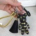 Fashion New Leather Car Keychain Tassel Gloomy Bear Keyring For Women Bag Car Key Chain Trinket Jewelry Gifts Souvenirs Llavero