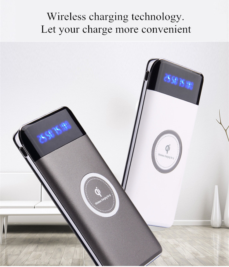 Wireless Charger Power Bank 20000mAh Portable Mobile Phone Charger 2 usb Fast Wireless Charging Powerbank for Phones Tablets