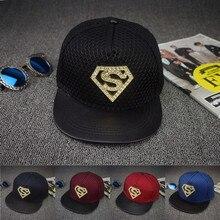 snapback baseball caps wholesale new fashion superman diamonds Flat Brim Hats leather cotton Hip Hop Hats couple Skate net Hats