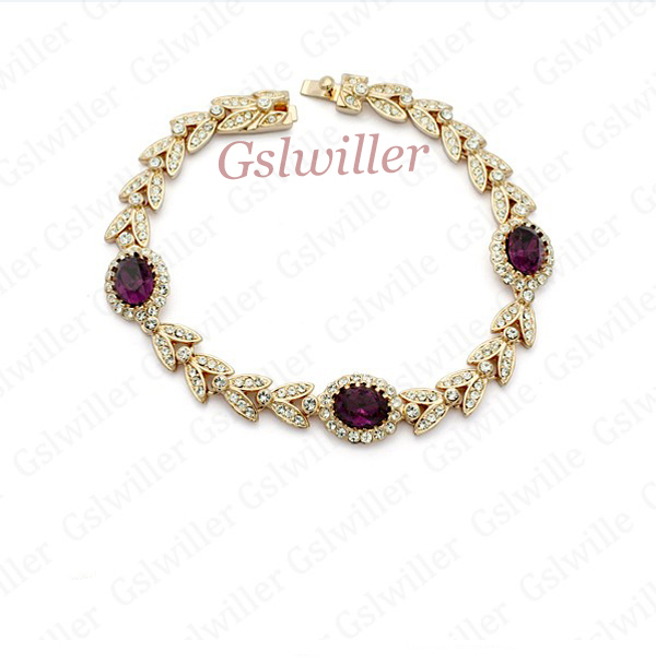 Free Shipping Italina Rigant Fashion Wholesale Jewelry 18k Rose gold plated Austrian Crystal Bracelet, Birthday Gift