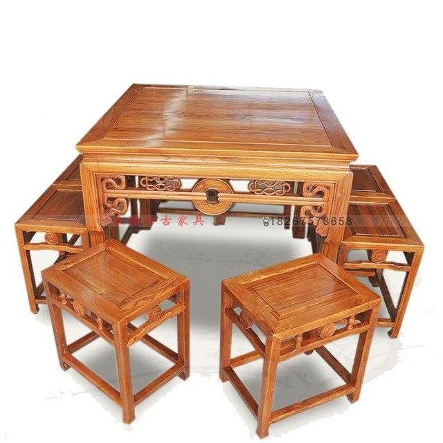 Muebles antiguos de madera sillas nueve juegos de monedas - Muebles antiguos de madera ...