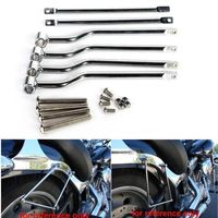 Universal Saddlebag Support Bars Brackets Mounting Brackets For Kawasaki Harley Honda TRIUMPH SUZUK I YAMAHA