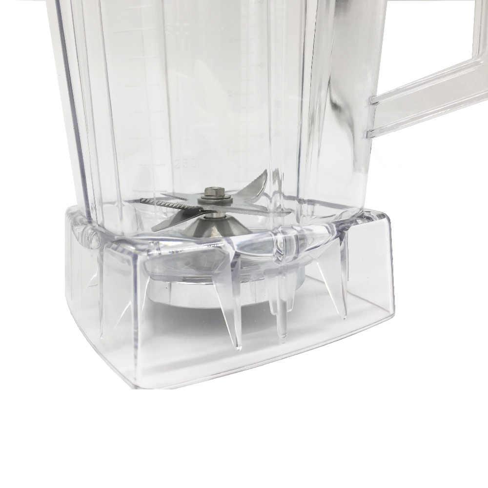 2L Quadrado Recipiente Jarra Jarro Jarro De Copo inferior com smoothies serrilhada lâminas tampa BPA LIVRE para peças de reposição Liquidificador comercial