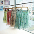 Summer Chiffon Print Skirt New Fashion Bohemia Chiffon Floral Printed Women Beach Party Short Skirt