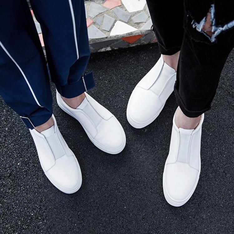 Couple Confortable Plates Qualité Véritable Appartements Cuir Haute Nouveau {zorssar} Occasionnels Vache 2018 Blanc En Femmes Chaussures Sneakers nSZ7Pwq0EP