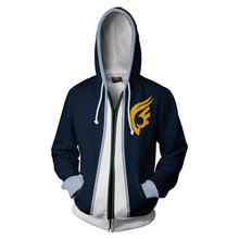 CostumeBuy Anime Fairy Tail Cosplay Costume Erza Scarlet  Casual Coat 3D Hooded Zipper Jacket Sweater L920