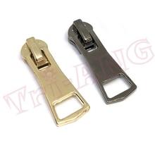 20 шт./лот, изысканный золотой и черный пистолет Цвет 5# металла Бегунки застёжки-молнии