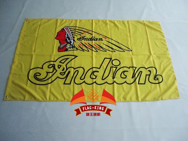 MC Flag Custom Motorcycle Club BIKER Indian MOTOCYCLES Flag Hot Sell Goods 3X5FT 150X90CM Banner Brass Metal Holes