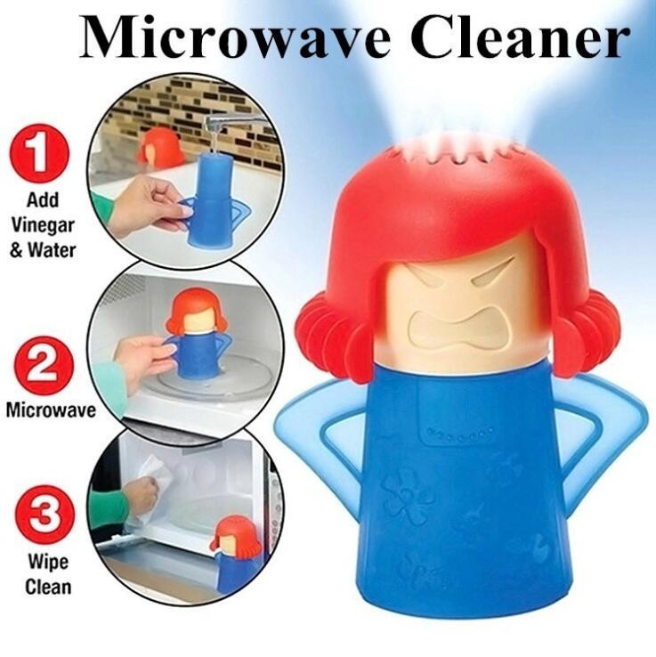 Nettoyeur à micro-ondes Angry Mama nettoie facilement les appareils de nettoyage à vapeur du four à micro-ondes pour le nettoyage du réfrigérateur de la cuisine