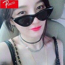 Psacss 2019 New Retro Cat Eye Sunglasses Women Brand Designer Womens Vintage Black Sun Glasses Feamle Mirror gafas de sol UV400