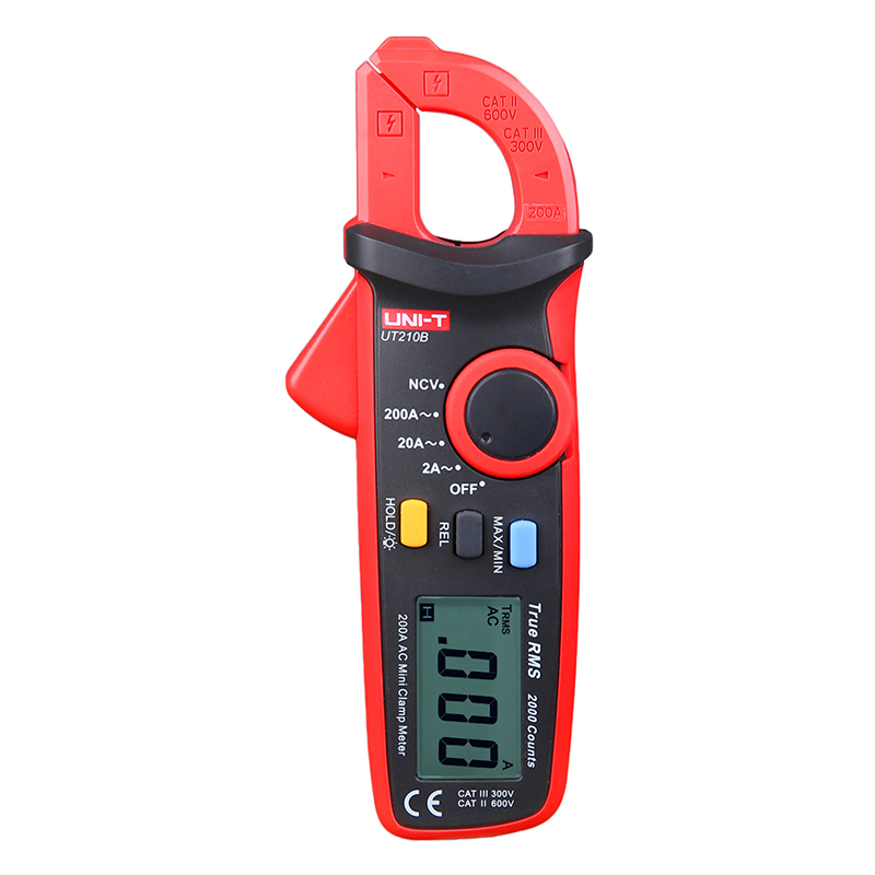 UNI-T Mini Digital Clamp Meter UT210B 2000 Count True RMS LCD Display Clamp Multimeters AC-2A/20A/200A Ammeter lcd display uni t ut139c true rms electrical digital multimeters lcr meter handheld tester multimetro ammeter