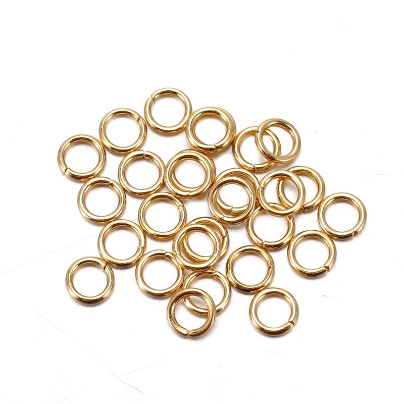 30PCS Stainless Steel Gold Plated Open Jump Rings