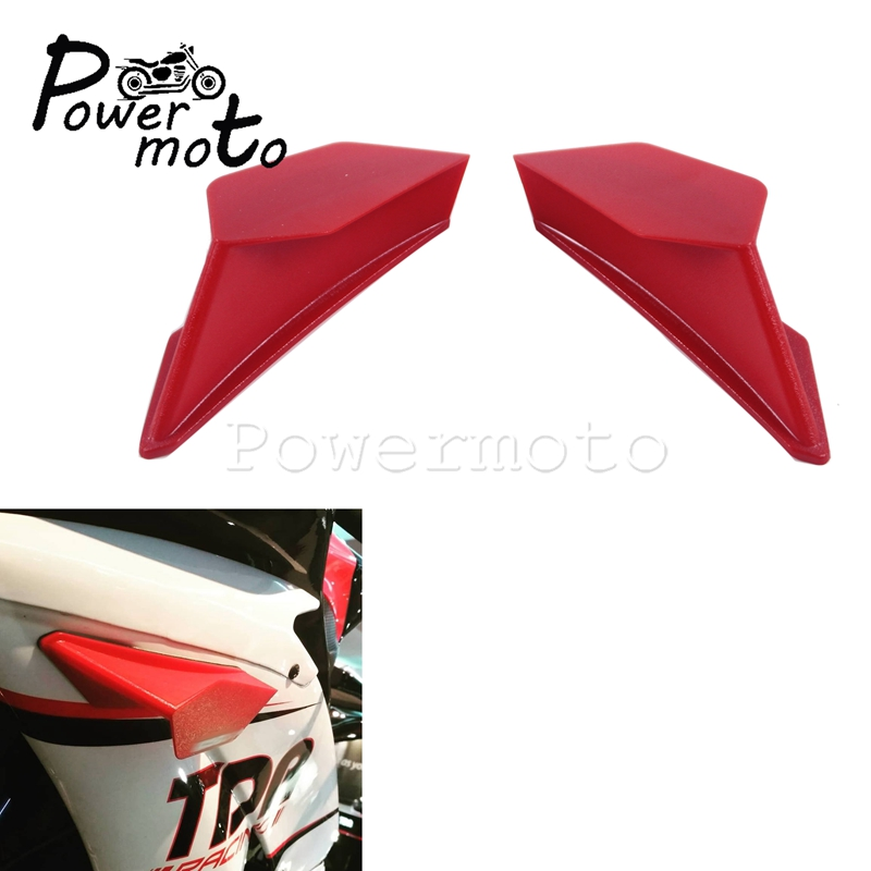 2pcs Motorcycle Front Fairing Aerodynamic Winglets w/<font><b>Sticker</b></font> for BMW Honda <font><b>Yamaha</b></font> YZF R6 Kawasaki <font><b>Nmax</b></font> Scooter Dynamic Wing Kit image