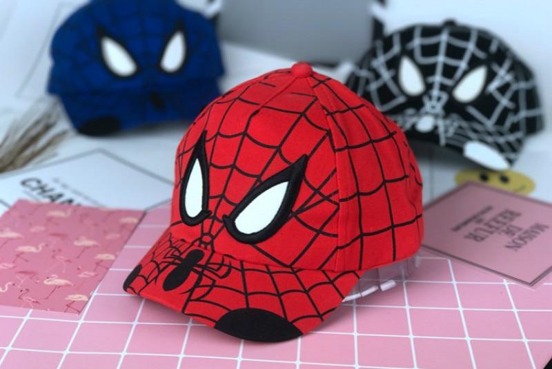 Serio Vendita Calda Hot Movie Spiderman Del Fumetto Del Cotone Berretto Da Baseball Per Bambini Della Ragazza Del Ragazzo Del Cappello Di Hip Hop Spiderman Cappello Di Cosplay Imballaggio Di Marca Nominata