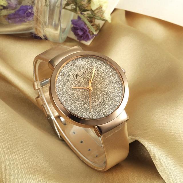 a5218ad55c1 Nova Moda Assista Mulheres rhinestone Luxo Cristal As estrelas de Prata  imprimir Mulheres Relógios Senhoras Vestido