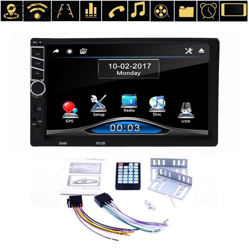 7 2Din Touch Screen Universal Car Multimedia Video MP5 Player Auto Remote Control Bluetooth GPS Navigation FM Radio Autoradio two 2 din radio car dvd player gps navigation tape recorder autoradio cassette player for car radio steering wheel multimedia