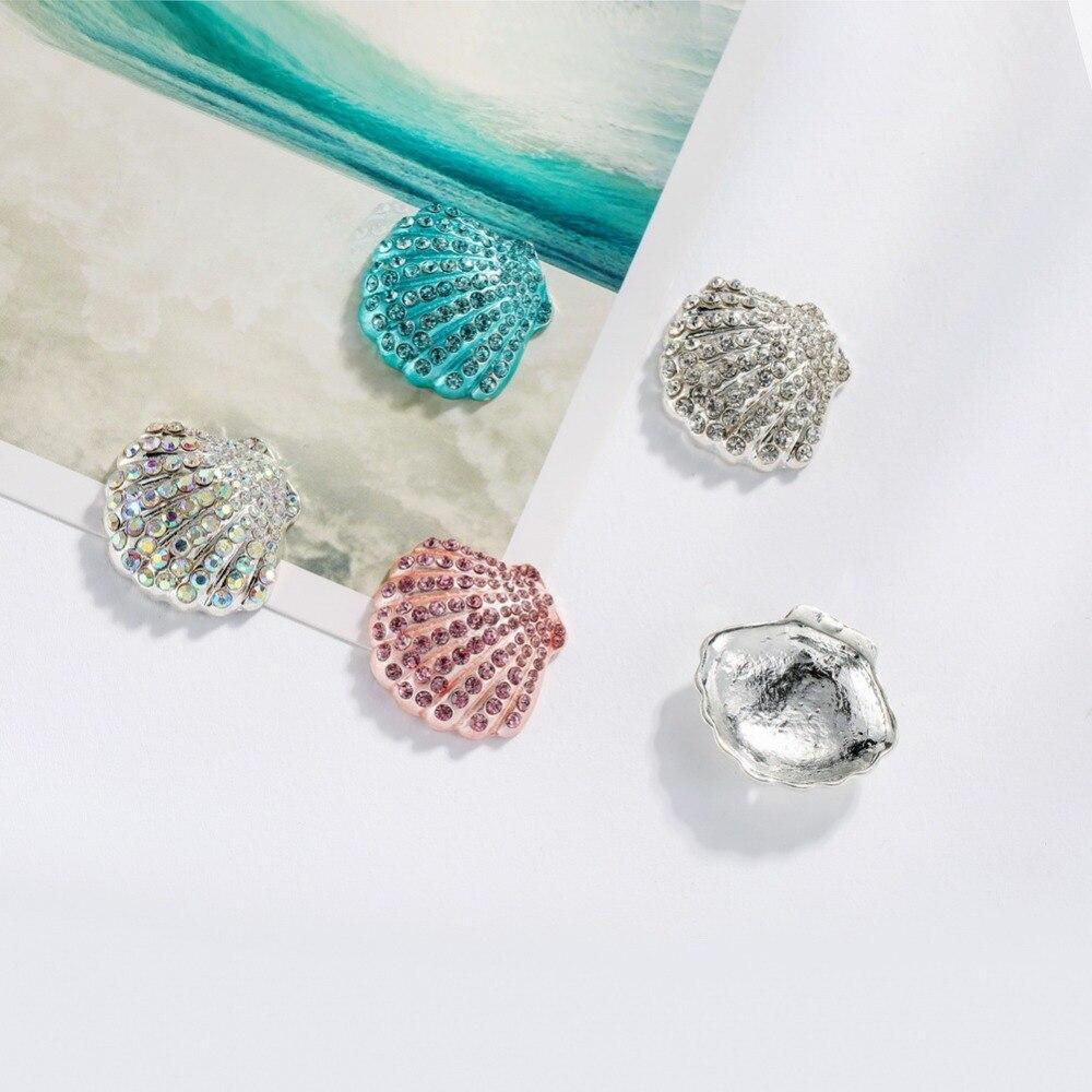 ᓂBotones envío gratis diamante pintura 28*25mm 10 piezas de concha ...