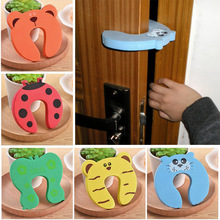5pcs Kids Baby Cartoon Animal Jammers Stop Edge Corner Children Door Stopper Guards Holder Lock Safety Finger Protector
