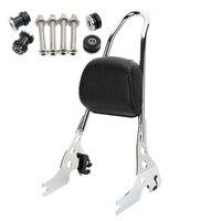 Новый задний пассажирский спинкой сидси бар с подушкой съемный стыковочный аппаратный комплект для 2004 более поздних Harley Sportster 1200 883 XL