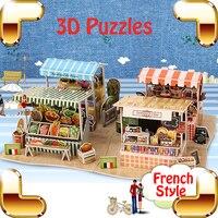món quà đẹp phong cách Pháp 3d câu đố tự làm thủ công trò chơi iq học tập đồ chơi gia đình lắp ráp có ý nghĩa lưu niệm bộ sưu tập hiện tại
