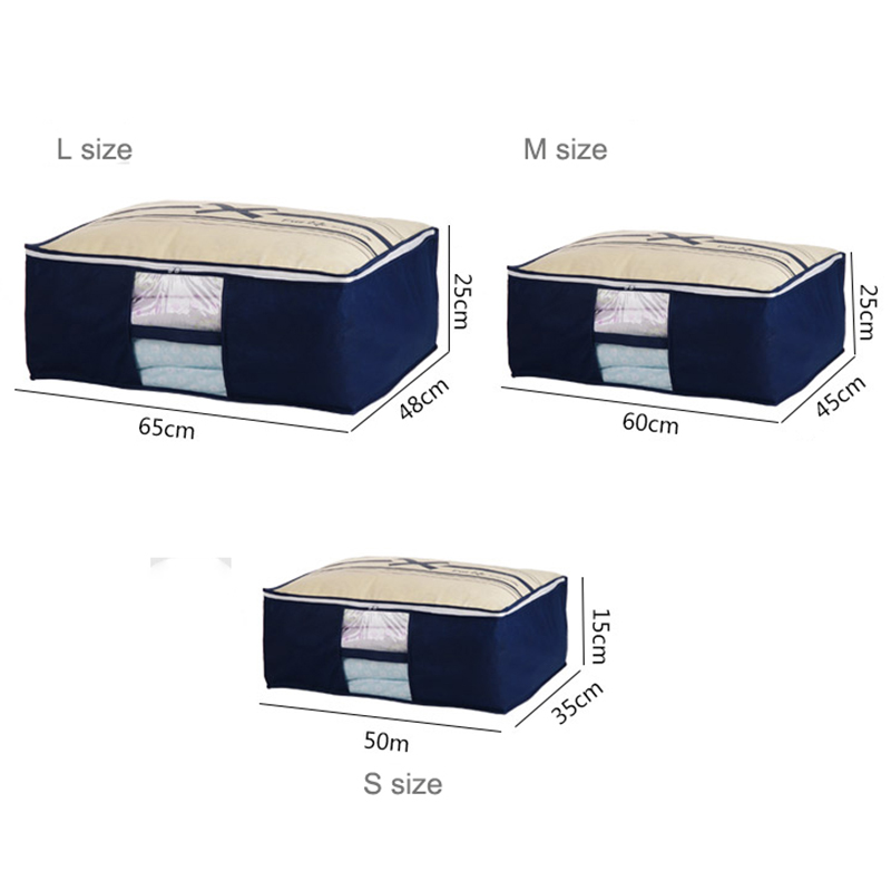 Non-tissé famille sauver espace Organizador lit sous placard boîte - Organisation et stockage dans la maison - Photo 5
