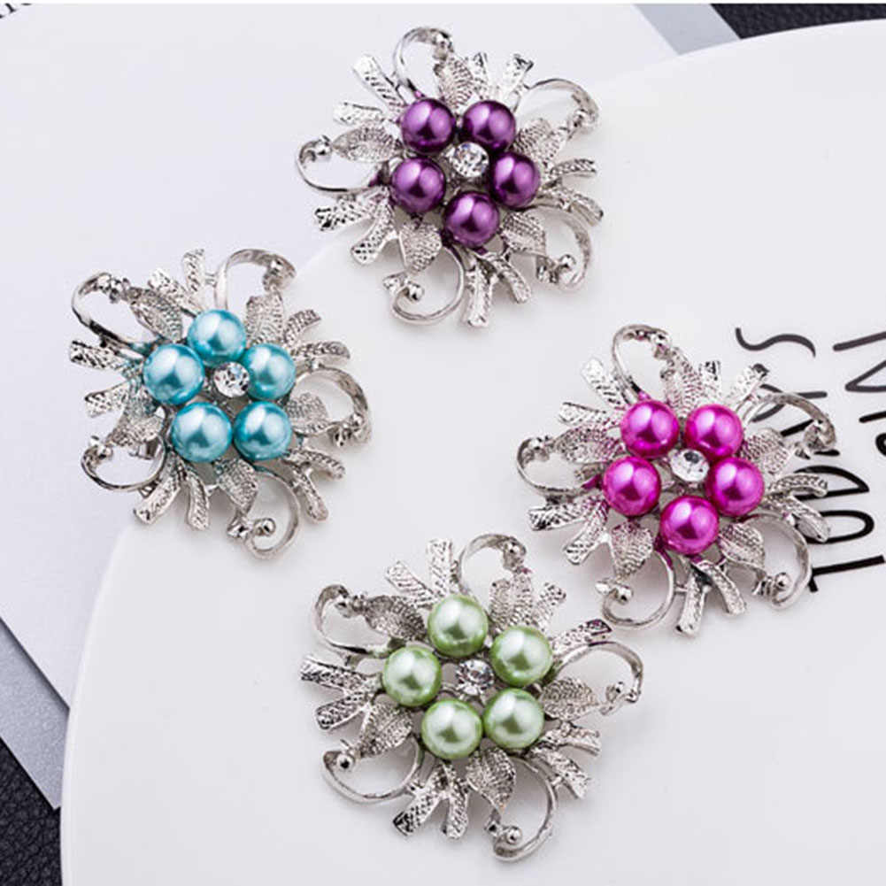 HOT Sale Brooches For Women Vintage Imitation Pearl Brooch Female Jewelry Collar Flower Leaf Broches Pins