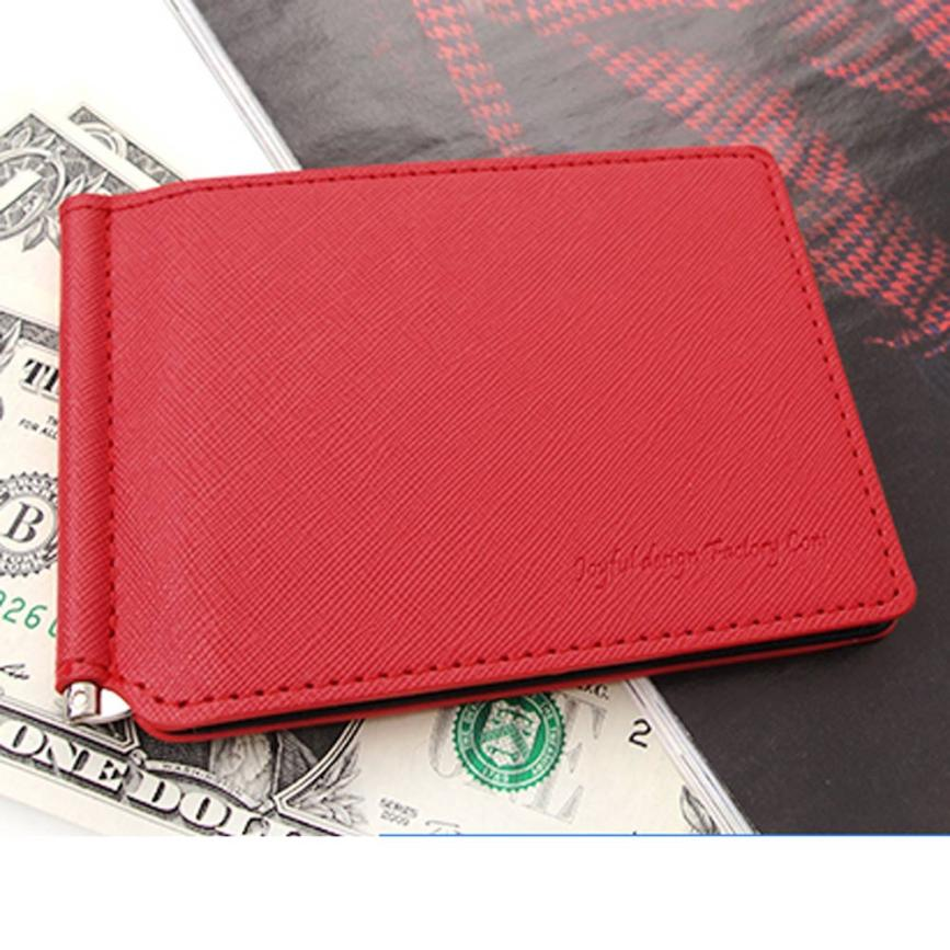 Women Men Bifold Business Leather Wallet ID Credit Card Holder Pockets Short Coin Purse Small Vintage Wallet Cowhide Leather