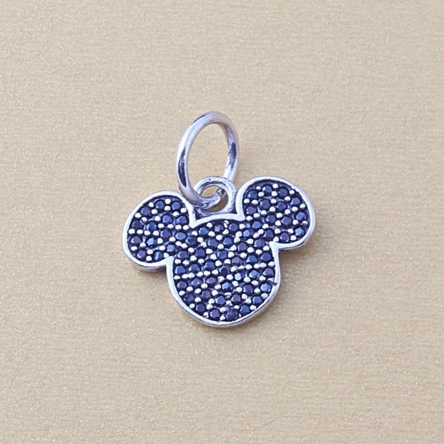 7533bdc5f ZMZY Fits Pandora Charms Bracelet DIY Beads Sparkling Mickey Icon Silver  Dangle Authentic 925 Sterling Silver