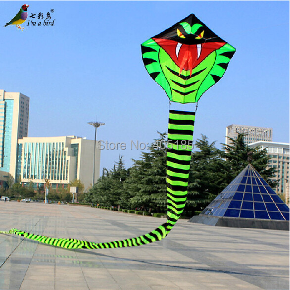 Free Shipping Outdoor Fun Sports Free Shipping 30 m Power Snake Kite Good Flying For Hallowmas