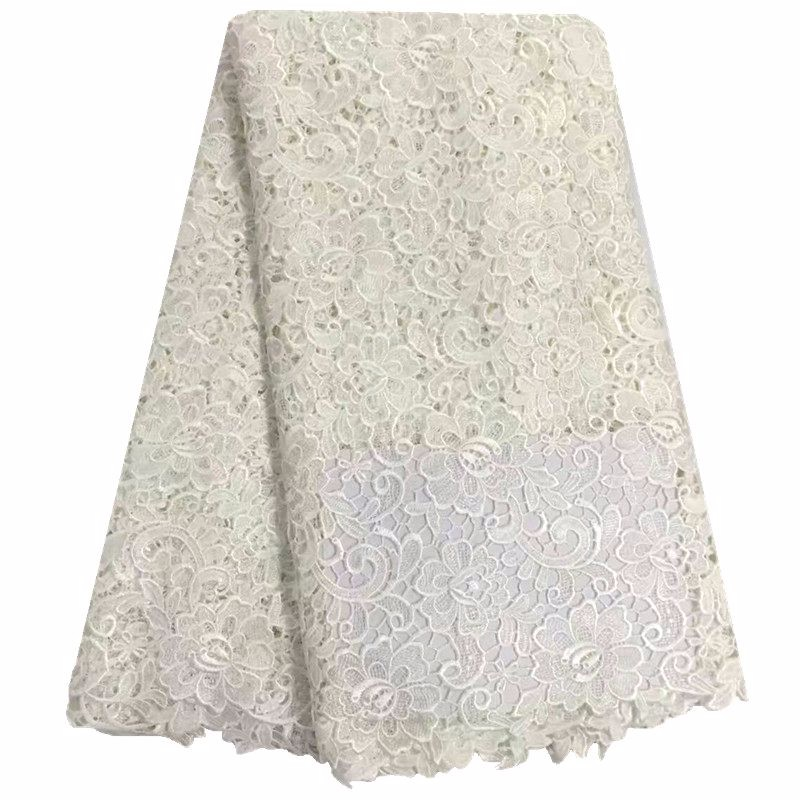 Image 5 - African Lace Fabric Yellow Color Guipure Lace Fabric 2018 High Quality Nigerian Cord Lace Fabric For Wedding Dresses 13 5-in Lace from Home & Garden