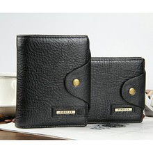 Wholesale New Arrival Brand Men Casual Wallet High Quality Genuine Leather Multifunctional Hasp Money Clips Male Purse