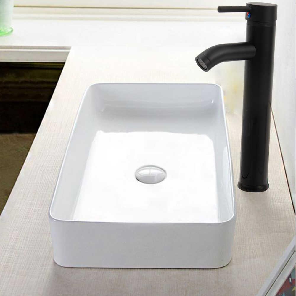 Смесители для ванной бассейна с одной ручкой, смеситель для холодной/горячей воды, кран для раковины, черный смеситель для ванной