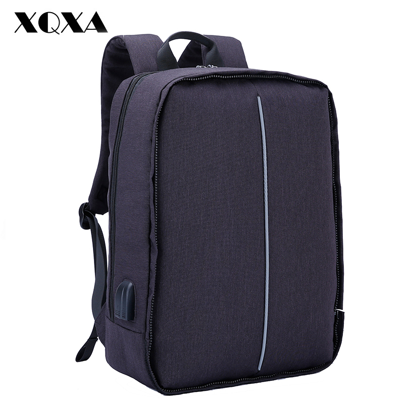 Xqxa Anti-theft Backpack With Usb Charging Port And Earphones Prot 17.3 Inch Laptop Notebook Men Backpack 8608 8609 Basis