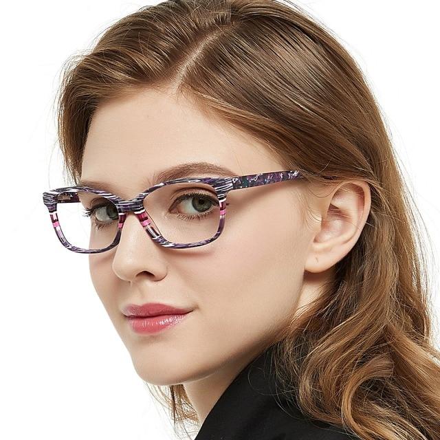 แฟชั่นลาย Clear กรอบแว่นตาผู้หญิง Vintage Presbyopia แว่นสายตาสายตาสั้นกรอบแว่นตา Nerd กล่อง MARE AZZURO AMOS