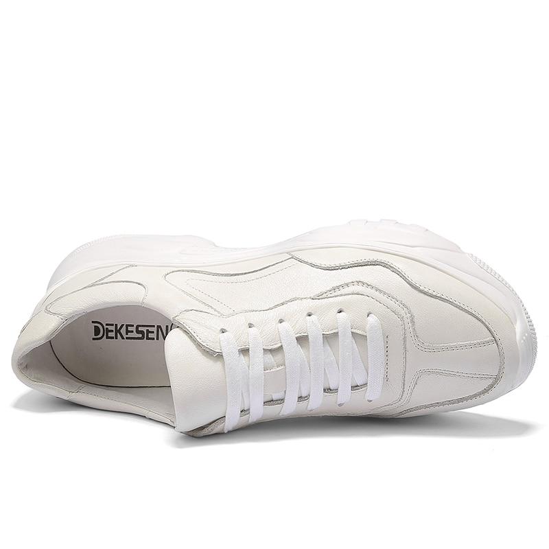 Moda Sneaker white Ultra Aumenta Homens Plataforma Trepadeiras Genuíno Casuais De Black Couro Footwea Sapatos 8Y4qSw