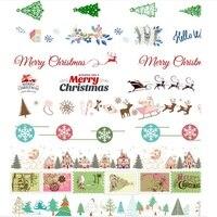 Washi Tape Set Of 20pcs Snowflake Bow Reindeer Jingle Bells Party Gifting Scrapbooking Masking Tape Merry