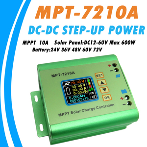 LCD MPPT 10A Solar Regulator Charge Controller for 24V 36V 48V 60V 72V Battery DC12-60V Max 600W Solar Panel DC-DC Step-Up Power(China)
