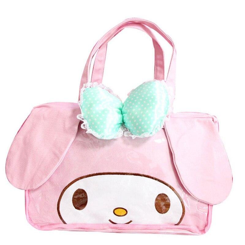 Detail Feedback Questions about Cute Cartoon My Mloedy Hello Kitty  Cinnamoroll Pudding Dog Plush Backpack Single Shoulder Bag Luggage Handbag  Women Girls ... 04ccc8aa4ccff