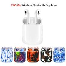 Tws i9s окрашенный выпуск мини-наушники беспроводные Bluetooth гарнитура наушники стерео наушники беспроводные для iPhone Android